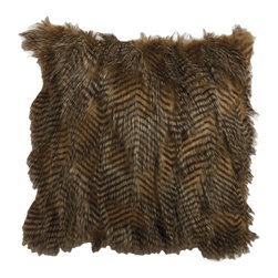 Ethan Allen - Phoebe Faux Fur Pillow - Add some rich texture and a touch of luxury with this faux fur pillow.