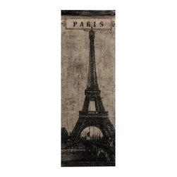 "Imax - Eiffel Tower Paris Wall Decor - *Dimensions: 48""h x 0.25""w x 18"""