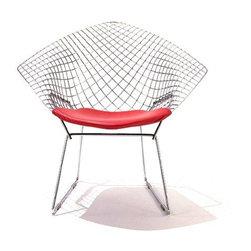 Knoll   Diamond Lounge Chair with Seat Cushion -