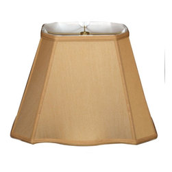 """Royal Designs, Inc"" - Fancy Bottom Rectangle Basic Lampshade - Antique Gold (7 x 10) x (12.25 x 18) x - ""This Fancy Bottom Rectangle Basic Lampshade is a part of Royal Designs, Inc. Timeless Basic Shade Collection and is perfect for anyone who is looking for a traditional yet stunning lampshade. Royal Designs has been in the lampshade business since 1993 with their multiple shade lines that exemplify handcrafted quality and value.