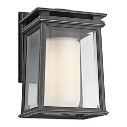 Kichler - Kichler Lindstrom Outdoor Wall Mount Light Fixture in Bronze - Shown in picture: Outdoor Wall Lantern 1Lt in Rubbed Bronze
