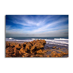Ready2HangArt - Ready2hangart Bruce Bain 'Rock Beach' Canvas Wall Art - This beautiful canvas wall art is from photographer Bruce Bain. His work employs elements of imagination to capture a variety of subjects. It is fully finished, arriving ready to hang on the wall of your choice.