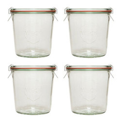 19.6 oz. Weck Jar Set - For homemade salsas or jams, classic canning jars with a sleek, vintage style are a perfect gift.
