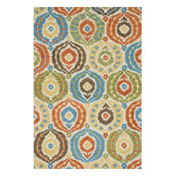 """Loloi Rugs - Loloi Rugs Taylor Collection - Ivory / Multi, 5'-0"""" x 7'-6"""" - The colors are vivid and the designs are beautiful, but what's really special about the Taylor Collection is its knobby, textural feel underfoot. That's because each Taylor rug is hand-hooked by skilled artisans in India to form a thick 100% wool pile. And with transitional designs ranging from trendy chevron patterns to fresh damasks, it's easy to find just the right style for your home."""