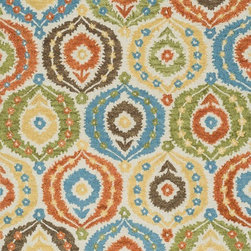 """Loloi Rugs - Loloi Rugs Taylor Collection - Ivory / Multi, 7'-10"""" x 11'-0"""" - The colors are vivid and the designs are beautiful, but what's really special about the Taylor Collection is its knobby, textural feel underfoot. That's because each Taylor rug is hand-hooked by skilled artisans in India to form a thick 100% wool pile. And with transitional designs ranging from trendy chevron patterns to fresh damasks, it's easy to find just the right style for your home."""