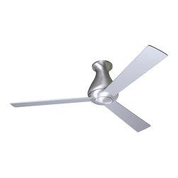 "Modern Fan Company - Modern Fan Company Altus Hugger Brushed Aluminum 42"" Ceiling Fan + Wall Control - Features:"