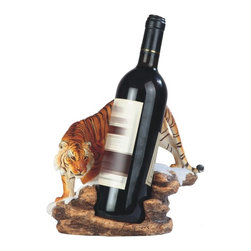 GSC - 9 Inch Orange Bengal Tiger Protecting Wine Holder - This gorgeous 9 Inch Orange Bengal Tiger Protecting Wine Holder has the finest details and highest quality you will find anywhere! 9 Inch Orange Bengal Tiger Protecting Wine Holder is truly remarkable.
