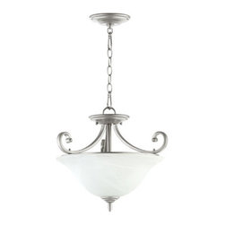 "Quorum International - Quorum International 2854-18 Bryant 3 Light 17.5"" Convertible Foyer Pendant - Quorum International 2854-18 Bryant 3 Light 17.5"" Convertible Foyer PendantThe extensive Bryant Collection of light fixtures meld traditional design elements, such as the curvaceous support arms, with a contemporary flair that will allow these lights to illuminate any room in your home.Quorum International 2854-18 Features:"