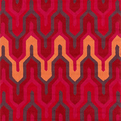 Surya - Surya Brentwood BNT-7701 (Orange, Red) 8' x 10' Rug - The Brentwood Collection features a hand hooked construction of 100% polyester. Made in China, these rugs range in design motifs from transitional to contemporary and are woven to inspire your decor.