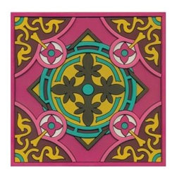 Kitchen Trivet: Sejjadeh Urjuwan - textural handmade PVC trivets are fun and functional, modern and yet they remind us of ancient design motifs. Keep a few on hand as hostess gifts!
