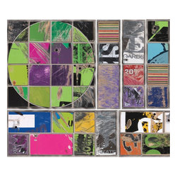 York Wallcoverings - Art Board Skateboard Photo Circles Squares Wall Accent Set - Features: