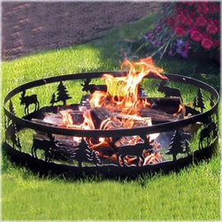 CobraCo Moose Campfire Ring - Keep a fire safely contained anywhere you set up camp with the CobraCo Moose Campfire Ring. This easy travel fire ring breaks down into 4 next parts that are easy to pack and carry, and just as easy to put back together when you settle on a campsite. Built of steel with a cool cutout moose design, this fire pit is built to last through travel and weather.About Woodstream and CobraCoA privately held company with a long-standing positive reputation, Woodstream is a global manufacturer and marketer of quality products from pets and wildlife control, and home and garden products, to bird feeders and garden decor. They have a 150-year history of excellence, growth, and innovation, and have built a strong presence in key markets through organic growth and strategic acquisitions.Most recently, Woodstream acquired CobraCo, which offers an extensive line of planters, baskets, flower boxes, and accessories. The growth of Woodstream is thanks to their customer-driven approach to product development, a dedicated design organization that focuses on innovation, quality, and safety, as well as a commitment to an industry-leading level of service.