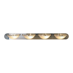 Premier - Four Light 48 inch Vanity Fixture - Brushed Nickel - Refresh your bathroom's appearance with the unique styling of this contemporary vanity fixture in a beautiful brushed nickel finish.