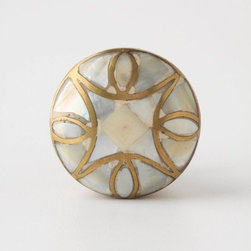 Mother-of-Pearl Knob - Another of our favorite knobs, this looks great on gray cabinets, we just used it recently and loved the way it looked. Can be used in a variety of styles, very versatile.