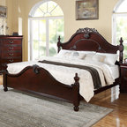 "Acme Furniture - Gwyneth Queen Bed in Cherry - Gwyneth Queen Bed in Cherry; Finish: Cherry; Dimensions: 63""H"