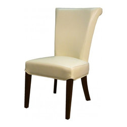 NPD (New Pacific Direct) Furniture - Bentley Dining Chair (Set of 2) by NPD Furniture, Beige Bonded Leather - Bentley dining chairs are beautiful with sturdy solid birch wood construction and with fabric, bonded or genuine split leather upholstery. They are easy to assemble and will look great as side chairs in any dining room. Set includes 2 chairs.