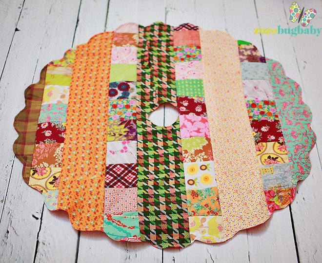 Eclectic Christmas Tree Skirts by ZozoBugBaby