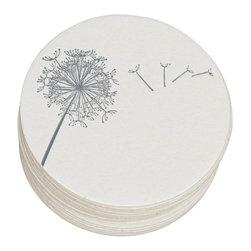 Ruff House Art - Dandelion Breeze Letterpress Paper Coasters - **Boxed Set of 10 Letterpress Paper Coasters