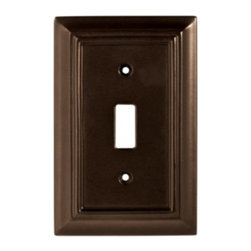 Liberty Hardware - Liberty Hardware 126342 Wood Architectural WP Collect 3.15 Inch Switch Plate - This Liberty Architectural MDF 1-Gang Espresso Toggle Switch Wallplate provides a lightweight feel and an attractive finish for mounting over a light switch. Width - 3.15 Inch, Height - 4.9 Inch, Projection - 0.4 Inch, Finish - Espresso, Weight - 0.13 Lbs.
