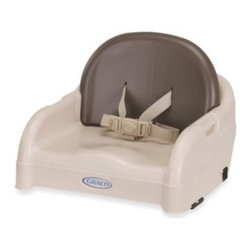 Graco - Graco Blossom Booster Seat in Brown - This booster seat can be used with the Graco Blossom 4-in-1 seating system or attached to any standard kitchen table with the two installation straps.