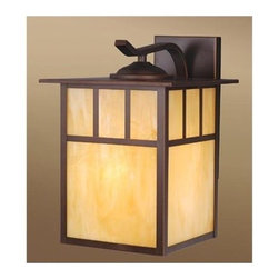 Vaxcel Lighting - Vaxcel Lighting OW37293 Mission 1 Light Outdoor Wall Sconce - Features: