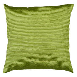 "Surya - Surya PC-1006 Shapely Stripe Pillow, 20"" x 20"", Poly Fiber Filler - Create a look of contemporary charm with this elegant pillow. Featuring a subtly chic design and striking green coloring, this piece will pair perfectly with a range of styles, securing itself as the crowning jewel of any space. This pillow contains a zipper closure and provides a reliable and affordable solution to updating your home's decor."