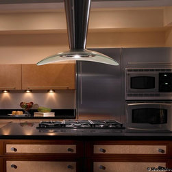 KITCHEN HOODS - Wood-Mode Cabinetry - Heart of the Home Kitchens.  Zephyr - Torino Island Vent Hood, Europa Collection.