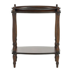 Safavieh - Todd Side Table - Tradition is often a synonym for what works best. Standing the test of time is the casual elegance of the Todd Side Table with round, tray styled top, gently curved legs and vintage birch wood construction as hallmarks of decorous living.