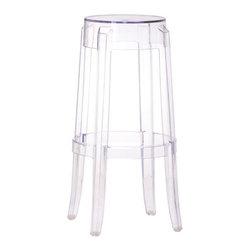 Zuo Modern - Anime Bar Chair Transparent - Bring home our Anime Bar Chair with contemporary design has a footrest for convenient seating. This is an attractive modern backless transparent chair made out of transparent polycarbonate material and can be utilized for a variety of decor schemes. It's the perfect bar chair to compliment any kitchen.