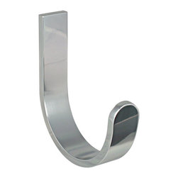 KohINoor - Materia Hanger & Towel Holder in Shiny Aluminium - Bathroom Towel Rack or Hook