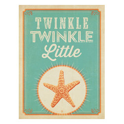 Anderson Design Group - Coastal Collection: Twinkle, Twinkle Little Star Gallery Print - The Coastal Collection is breezy, casual, whimsical and nostalgic. Inspired by vintage nautical travel posters, we've set out to create a collection of brand new designs that will make you as happy as if you were sitting on the coast. Printed on gallery-grade matte-finished paper, this print is sure to add a breezy, nostalgic charm to any home or office wall. Original, hand-illustrated design from Anderson Design Group in Nashville, TN.