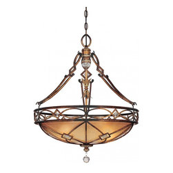 Minka-Lavery - Minka-Lavery Aston Court 3 Light Pendant - 1747-206 - This Three Light Up Pendant has a Bronze Finish and is part of the Aston Court Collection.