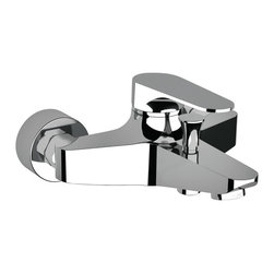 Remer - Wall Mounted Bath Filler With Shower Diverter - This bath and shower mixer comes complete with an exposed diverter.