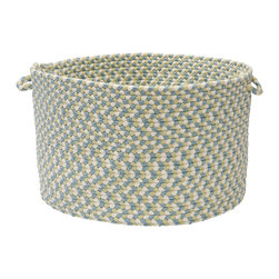 "Colonial Mills - Carousel Storage Basket - Sky High, 14"" x 10"" - Playful colors and soft textures, these Carousel storage baskets are stain resistant, super durable and perfect for kids storage."