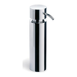 Blomus - Duo Polished Stainless Steel Soap Dispenser - Made of stainless steel, polished finish. Designed by Stotz-Design. 1-Year manufacturer's defect warranty. 2 in. Dia. x 7.51 in. H