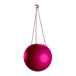 GreenBall Planter, Pink - Looking for versatility in your garden containers? The GreenBall Planter can function as a hanging planter, tabletop planter, and wall planter with a simple switch of the hanger. Constructed with high quality materials, the GreenBall Planter can function both indoors and outdoors, creating endless possibilities. The GreenBall also conserves extra water not used by the plant to help water other areas of your garden.