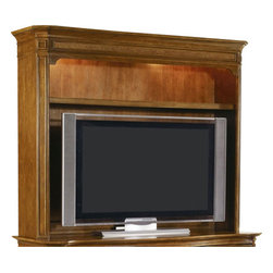 Hooker - Hooker Windward Entertainment Console Hutch 15-56580 - Windward Entertainment Console Hutch Made from hardwood solids and cherry veneers, provide you with a sturdy place to perch your big-screen upon. Comfortably stylish, this entertainment center will infuse your home decor with casual coastal fashion thanks to the mellow light brown finish, decorative feet, and raffia drawer-fronts. This entertainment unit fits most 50 inch and some 55 inch monitors.