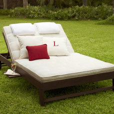 modern outdoor chaise lounges by Pottery Barn