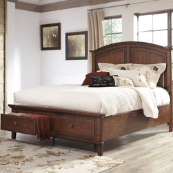 Signature Design by Ashley - Signature Design by Ashley Burkesville Brown Panel Bed - Bring this vintage styled bedset from Signature Design by Ashley into your bedroom. Enjoy the bold brown tones that this bed has to offer.