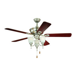 "Vaxcel Lighting - Vaxcel Lighting F0009 Nova 52"" 5 Blade Indoor Ceiling Fan with Reversible Motor, - Features:"