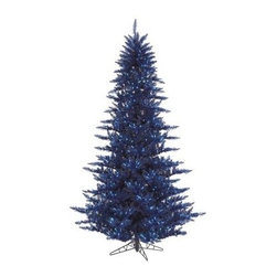 Vickerman Dark Blue Fir Pre-lit Christmas Tree - The Vickerman Dark Blue Fir Pre-lit Christmas Tree is a crisp dark blue fir tree that boasts a variety of features to make your holiday special. The tree features PVC tips with hinged branch construction, as well as an on/off foot pedal switch for your convenience.Specifications for 14-foot tree Shape: Medium Base Width: 94 inches Number of Bulbs: 2250 Number of Tips: 6921Specifications for 12-foot tree Shape: Medium Base Width: 82 inches Number of Bulbs: 1650 Number of Tips: 4631Specifications for 10-foot tree Shape: Medium Base Width: 68 inches Number of Bulbs: 1150 Number of Tips: 2980Specifications for 9-foot tree Shape: Medium Base Width: 64 inches Number of Bulbs: 1000 Number of Tips: 2326Specifications for 7.5-foot tree Shape: Medium Base Width: 52 inches Number of Bulbs: 750 Number of Tips: 1634Specifications for 6.5-foot tree Shape: Medium Base Width: 46 inches Number of Bulbs: 600 Number of Tips: 1216Specifications for 5.5-foot tree Shape: Medium Base Width: 34 inches Number of Bulbs: 400 Number of Tips: 794Specifications for 4.5-foot tree Shape: Medium Base Width: 34 inches Number of Bulbs: 250 Number of Tips: 525 Specifications for 3-foot tree Shape: Medium Base Width: 25 inches Number of Bulbs: 100 Number of Tips: 234Don't Forget to Fluff!Simply start at the top and work in a spiral motion down the tree. For best results, you'll want to start from the inside and work out, making sure to touch every branch, positioning them up and down in a variety of ways, checking for any open spaces as you go.As you work your way down, the spiral motion will ensure that you won't have any gaps. And by touching every branch you'll create the desired full, natural look.About VickermanThis product is proudly made by Vickerman a leader in high quality holiday decor. Founded in 1940, the Vickerman Company has established itself as an innovative company dedicated to exceeding the expectations of their customers. With a wide v