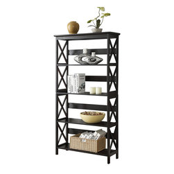 Convenience Concepts - Convenience Concepts Shelve X-050302 - The Convenience Concepts Oxford 5 Tier Bookcase is a great addition to any home office. Featuring 5 spacious shelves that allow plenty of space for everything from books to collectibles. The Oxford bookcases easily fit with most d&#233:cor so you can enjoy it for years to come. Coordinating pieces are also available sold seperately.