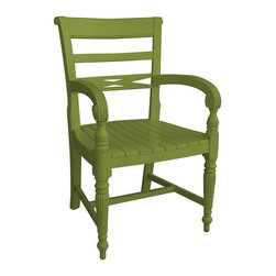 EuroLux Home - New Arm Chair Green Painted Hardwood Arm - Product Details