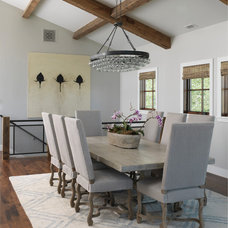 Transitional Dining Room by Snake River Interiors
