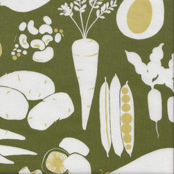 Natura Farmer's Market Fabric, Green/Olive - I love this flat pattern and the little added dimension of the analogous color scheme. This would be perfect in the kitchen for short drapes or tea towels. Or, if you're really crafty (or know someone who is), this print would make for fantastic oven mitts!