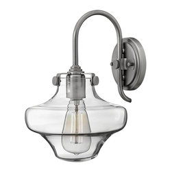 Hinkley Lighting - Hinkley Lighting HK-3171AN Congress Traditional Wall Sconce - Congress is a traditional design that combines both hip and historical elements. This chic retro glass, mix and match collection comes in different shapes, colors and materials and is the perfect vintage accent to any decor.