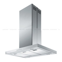 """Spagna Vetro - SPAGNA VETRO 42; SV198Z2-I42 Island-Mounted Stainless Steel Range Hood - Mounting version - Island Mounted 860 CFM centrifugal blower Three-speed mechanical, soft-touch push button control panel Four 35W halogen lights (Type: GU-10) Aluminum multi-layers micro-cell dishwasher-friendly grease filter(s) Machine crafted stainless steel (brushed finish) 6"""" round duct vent exhaust and back draft damper Convertible to duct-free operation (requires optional charcoal filter) Telescopic flue accommodates 8ft to 9ft ceilings (optional flue extension available for up to 10ft ceiling) Full Seamless Stainless Steel For residential use only, one-year limited factory warranty"""