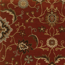 Oriental Weavers - casablanca saffron carpet (6x9) - The casablanca collection of rugs features timeless patterns made with a revolutionary blend of space-dyed nylon/polypropylene to produce a silky feel with rich color and exceptional durability. Styles range from traditional Persian looks to modern pieces utilizing ikat and medallion motifs. The palette highlights modern pastels like dove grey, warm copper and cool sage while suing a sophisticated base of soft neutrals such as ivory and warm cocoa. Deeper shades of slate blue, deep ochre and a burst of persimmon bring a rich vibrancy to any room.