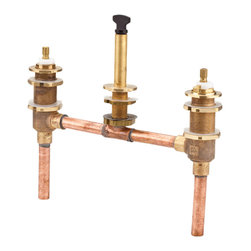 """Price Pfister - Pfister 0X6-050R 10"""" Fixed Roman Tub Rough In Valve - Price Pfister 0X6-050R is a Rough-in Valve only, 1/2"""" sweat inlets, 10"""" fixed centers, for use with 3-hole roman tub trim kits."""