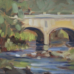 """The Bridge Over The Anamas River"" (Original) By Bob Martin - Old Bridge Over The Anamas River, Durango Colo"